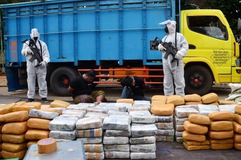BNN Bongkar Penyelundupan 500 Kg Ganja di Bekasi
