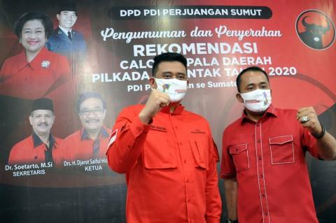 PDIP Resmi Usung Bobby Nasution-Aulia Rahman di Pilkada Medan