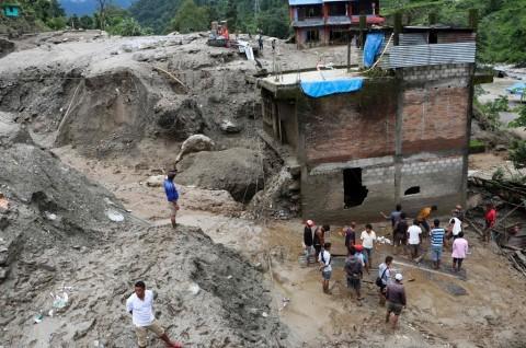 Longsor Landa Nepal, 18 Orang Tewas 21 Hilang