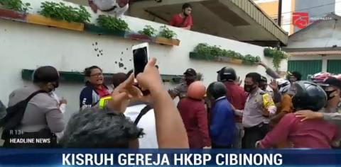 Dua Kubu Berebut Gereja HKBP Cibinong