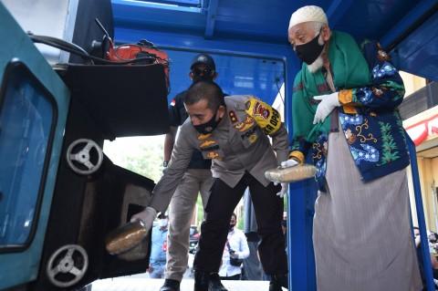 Polda Banten Musnahkan 303 Kg Ganja
