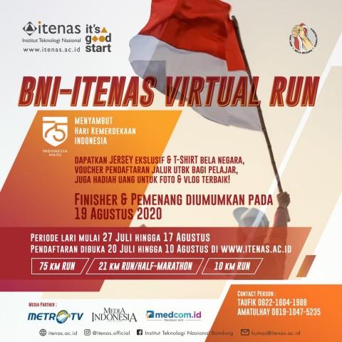 Ratusan Peserta Ikuti BNI-Itenas Virtual Run 2020