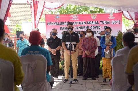 Ratusan KPM di Klungkung Terima Bansos Tunai