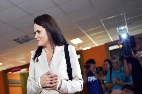 Tikhanovskaya Bertekad Lanjutkan Perjuangan Warga Belarusia