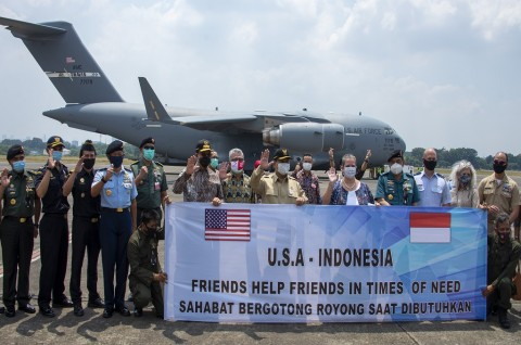 500 Ventilator Tahap II dari AS Tiba di Jakarta
