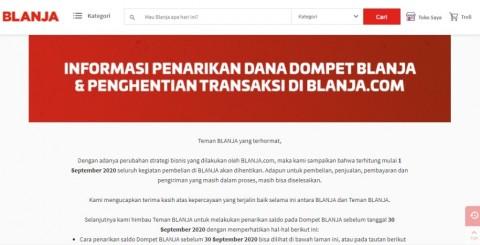 Penghentian Operasional Blanja.com per 1 September