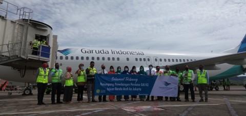 Garuda Terbang Perdana dari Aceh