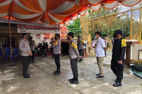 Kapolda Gorontalo Pastikan Penerapan Protokol Kesehatan di KPU