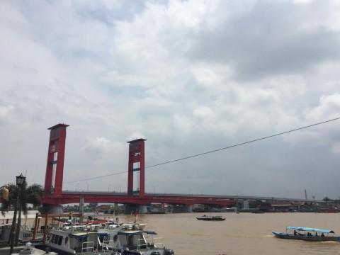 Sungai Musi Menyusut 2 Meter