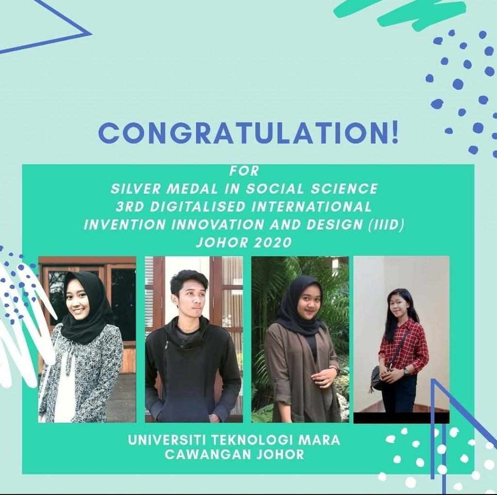 Empat mahasiswa Unair peraih medali perak di 3rd Digitalised International Invention Innovation and Design Johor 2020. Foto: Dok. Unair