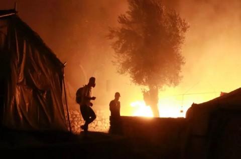 Kebakaran Landa Kamp Pengungsian Terbesar di Yunani