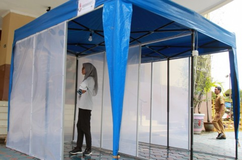 KPU Jatim Siapkan Bilik Khusus Pemilih Bersuhu Tubuh Tinggi