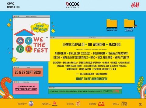 Oh Wonder, Isyana, dan Jason Ranti Meriahkan We The Fest 2020 Virtual