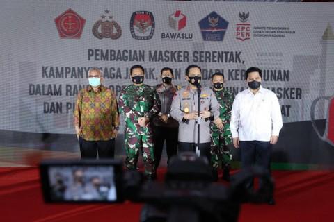 34 Juta Masker Dibagikan Serentak ke Seluruh Indonesia