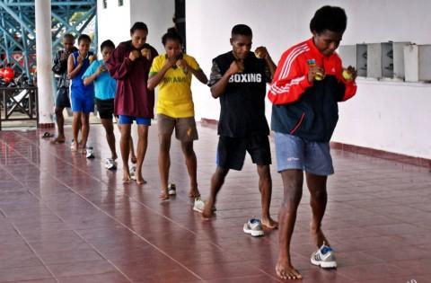 Atlet Jayapura Tetap Berlatih dengan Protokol Kesehatan