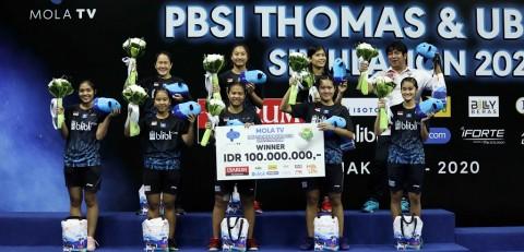 Tim Garuda Juara Turnamen Simulasi Piala Uber PBSI