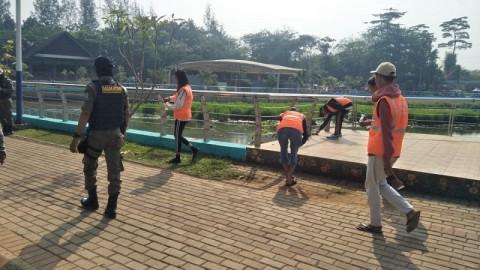 Tak Pakai Masker, Puluhan Remaja di Tangsel Dihukum