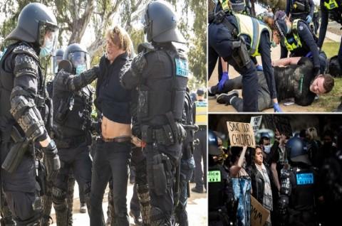 Polisi Tangkap 74 Orang dalam Demo Anti-Lockdown di Melbourne