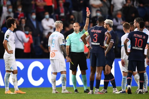 Diwarnai Lima Kartu Merah, Marseille Sukses Tundukkan PSG