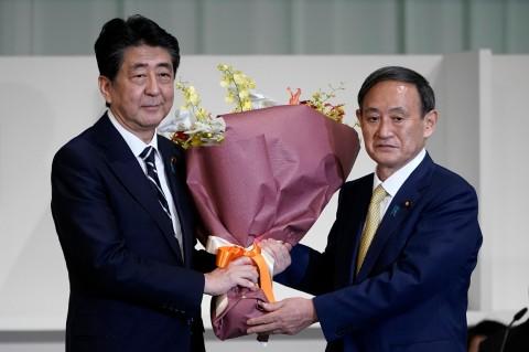 Jadi Ketua Partai, Yoshihide Suga Selangkah Lagi Jadi PM Jepang