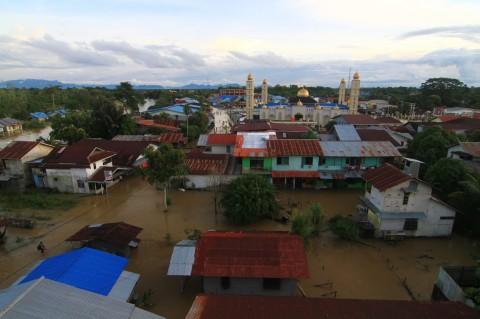 Kota Putussibau Kapuas Hulu Terendam Banjir