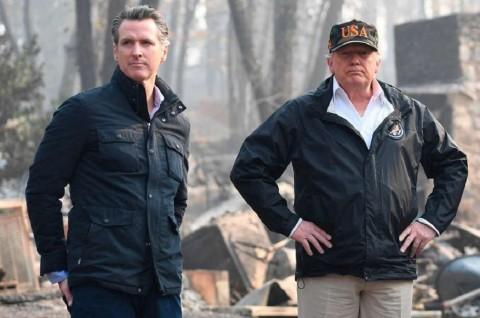 Trump Salahkan 'Pohon Meledak' dalam Kebakaran California