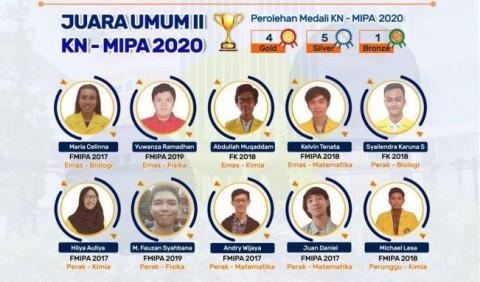 UI Borong 10 Medali di Kompetisi Nasional MIPA 2020