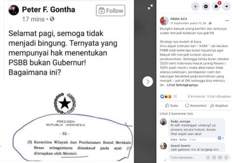 [Cek Fakta] PSBB Jilid II yang Diberlakukan Anies Bagian dari Misi Jahat untuk Mendesak Jokowi Mundur? Cek Faktanya