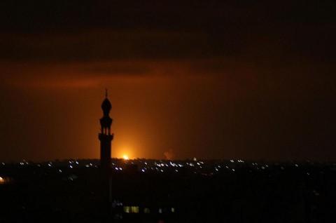 Israel Gempur Pangkalan Hamas usai Serangan Roket Gaza