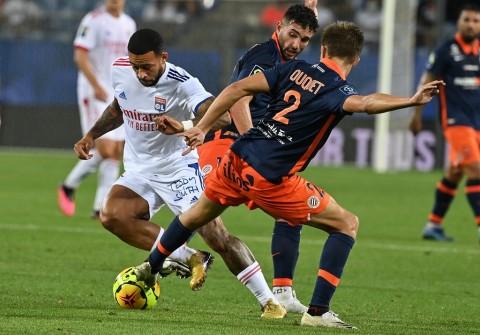 Depay Dimainkan, Lyon Gagal Menang atas Montpellier