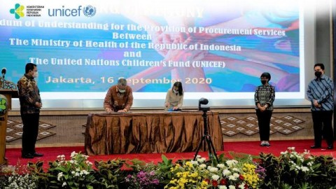 Kemenkes-UNICEF Kerja Sama Pengadaan Vaksin Covid-19 Harga Terjangkau
