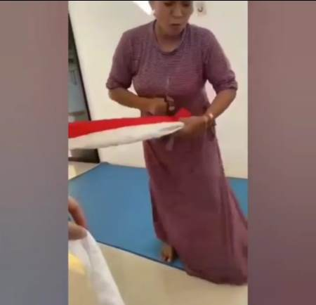 Jengkel dengan Anak, Ibu Gunting Bendera Merah Putih