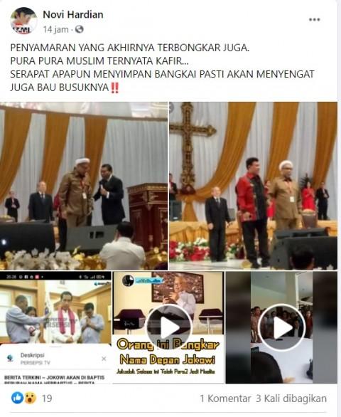 [Cek Fakta] Ali Mochtar Ngabalin Dibaiat di Gereja? Ini Faktanya