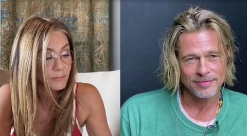 Brad Pitt dan Jennifer Aniston Reuni, Saling Tegur Sapa di Zoom