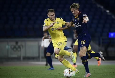 Tiang Gawang Bikin Verona vs Roma Berakhir Imbang