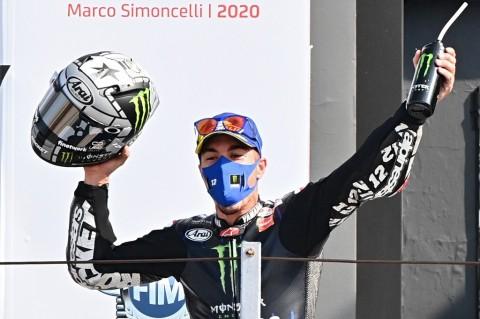 Rossi Terjatuh, Maverick Vinales Juara MotoGP Emilia Romagna