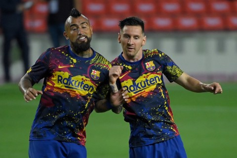 Salam Perpisahan Lionel Messi untuk Arturo Vidal