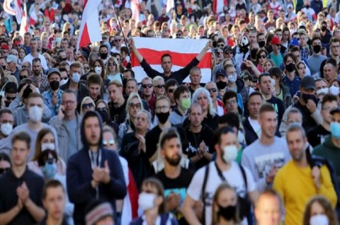 Demonstran Belarusia Retas Data Pribadi 1.000 Polisi