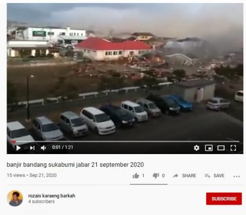 [Cek Fakta] Beredar Video Rumah Hanyut Akibat Banjir Bandang di Cicurug Sukabumi? Ini Faktanya