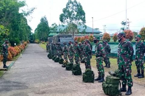 59 Personel Satgas TMMD 109 Diberangkatkan ke Perbatasan RI-PNG