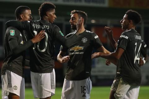 Tekuk Luton 3-0, MU ke Putaran Empat Piala Liga Inggris