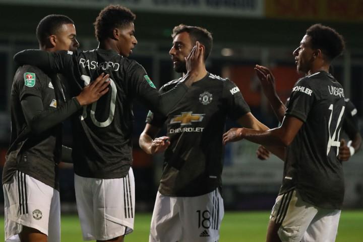 Tekuk Luton 3-0, MU ke Empat Besar Piala Liga Inggris