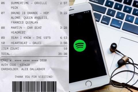 Viral Playlist Lagu Mirip Struk Belanja, Begini Cara Buat Receiptify