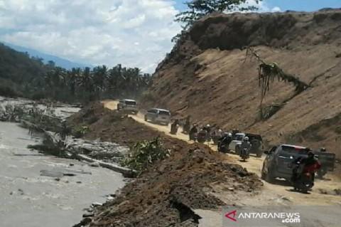 Jalur Palu-Kulawi di Sigi Rawan Banjir dan Longsor