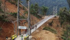 Jembatan Gantung di Sulsel Hubungkan Palopo-Toraja