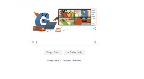 Google Doodle Rayakan Hari Ultah Google ke-22