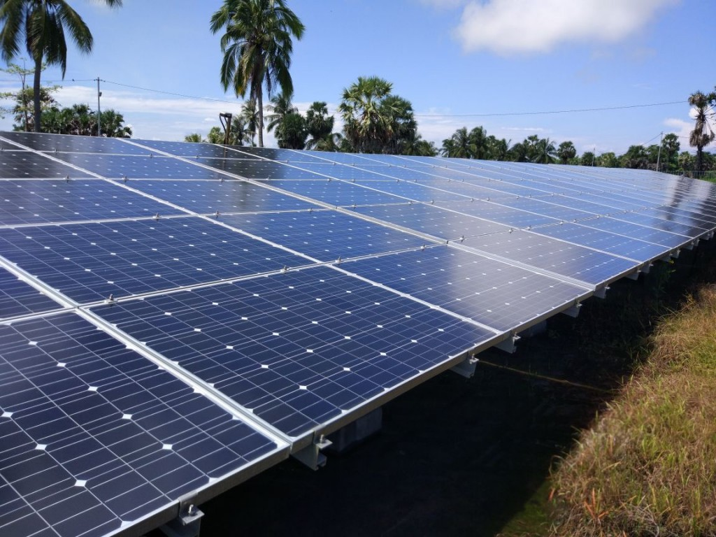 Energi baru terbarukan tenaga surya. Foto: Medcom.id/Annisa Ayu.