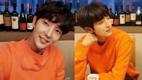 Segar! Tampilan Kasual Lee Joon-Gi dengan Outfit Berwarna Oranye