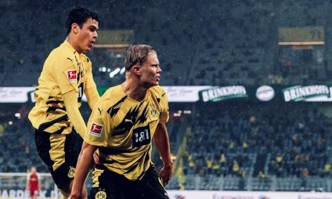 Dortmund vs Freiburg: Sepasang Gol Haaland Menangkan Dortmund