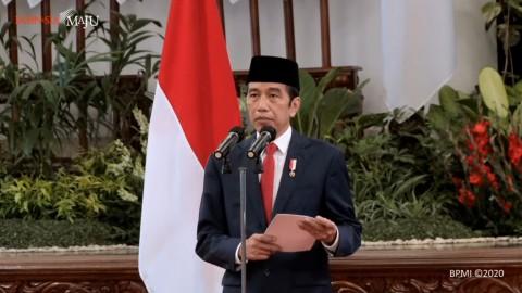 Jokowi Pimpin HUT ke-75 TNI